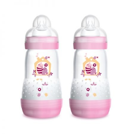 MAM Anti Kolik Sutteflaske Easy Start 260 ml Pink 2 stk