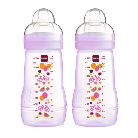 MAM Easy Active BB Sutteflaske 270 ml Lilla 2 stk