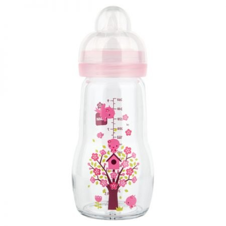 MAM Feel Good Glas Sutteflaske 260 ml Pink